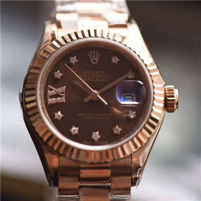 【SY厂一比一超A高仿手表】劳力士女装日志型系列279171巧克力色表盘女士腕表价格报价