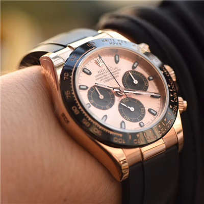 【独家视频测评JF厂1:1顶级复刻手表】劳力士宇宙计型迪通拿系列116515LN粉盘腕表