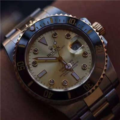 【NOOB厂V7版一比一超A高仿手表】劳力士潜航者型系列116610LN金盘腕表《包真18K金版》