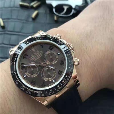 【视频解析】JF厂1:1复刻手表之劳力士宇宙计型迪通拿系列116515LN-L(FC) 咖啡色机械腕表