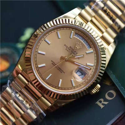 【EW厂1:1顶级复刻手表】劳力士星期日历型系列228238香槟色表盘腕表