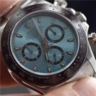 【独家视频测评一比一超A高仿手表】劳力士宇宙计型迪通拿系列116506-78596冰蓝迪通拿腕表