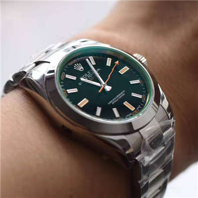 【N厂一比一超A精仿手表】劳力士闪电闪电绿玻璃MILGAUSS 116400 最高版本
