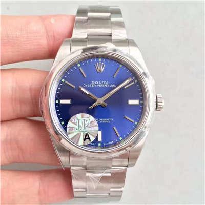 【JF厂1:1顶级复刻手表】劳力士蚝式恒动系列114300蓝盘腕表
