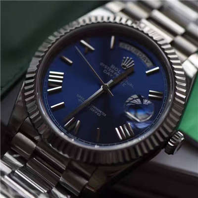 【独家视频评测EW厂1:1超A高仿手表】劳力士星期日历型系列228239蓝盘腕表