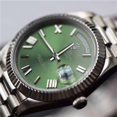 【独家视频测评EW厂1:1顶级高仿手表】劳力士星期日历型系列228239绿盘腕表