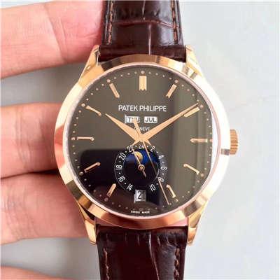 【台湾厂复刻腕表】百达翡丽复杂功能计时系列5396/1R-001 月相皮带款玫瑰金腕表