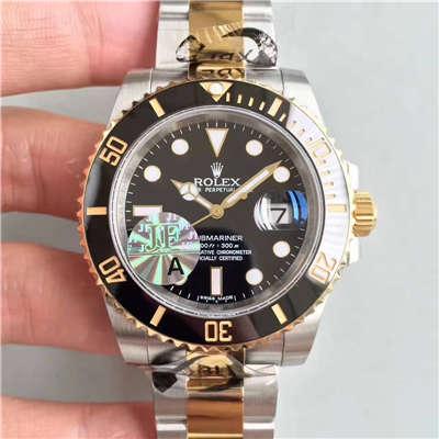 【JF厂一比一超A高仿手表】劳力士潜航者型系列116613-LN-97203间金水鬼腕表