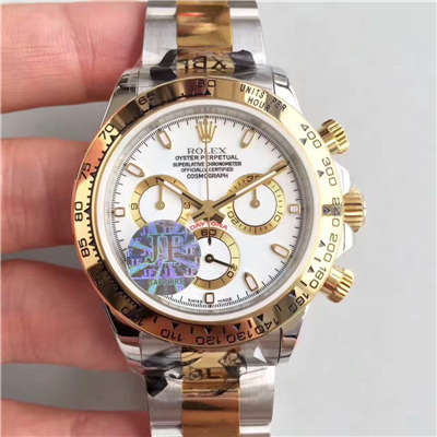 【JF厂1:1高仿手表】劳力士宇宙计型迪通拿系列116508白盘腕表