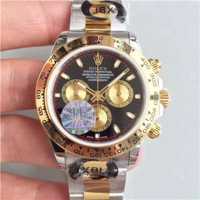 【JF厂1:1超A高仿手表】劳力士宇宙计型迪通拿系列116503金盘男士机械腕表