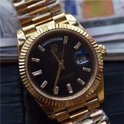 【台湾厂顶级复刻腕表】劳力士星期日历型系列228238黑色表盘