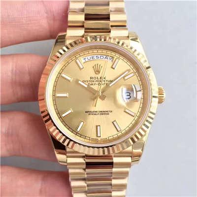 【N厂一比一复刻手表】劳力士星期日历型系列228238金盘腕表
