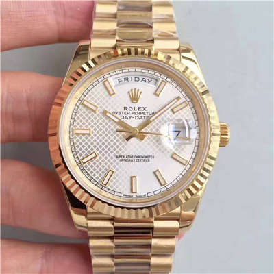 【NOOB厂一比一复刻手表】劳力士星期日历型系列218238-83218 白盘腕表