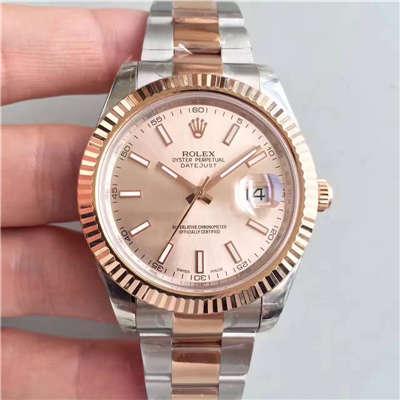 【NOOB厂一比一精仿手表】劳力士日志型系列126331粉盘纪念型表带腕表