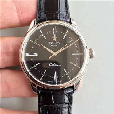 【MK一比一超A高仿手表】劳力士切利尼系列50509黑盘黑带机械腕表