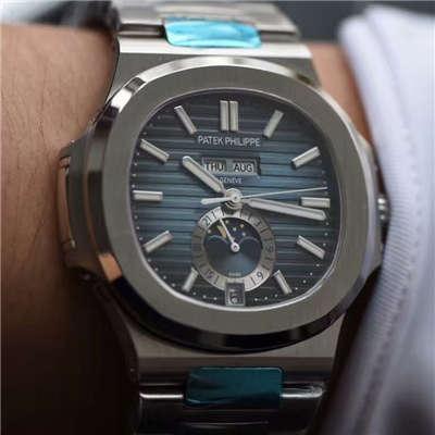 【KM一比一超A高精仿手表】百达翡丽运动系列鹦鹉螺月相5726/1A腕表价格报价