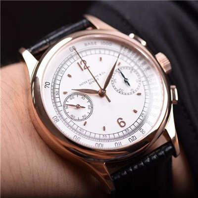 【独家视频测评1:1超A复刻手表】百达翡丽复杂功能计时系列5170R-001腕表