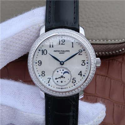 【KG1:1超A精仿手表】百达翡丽复杂功能计时系列4968G-010女士腕表价格报价