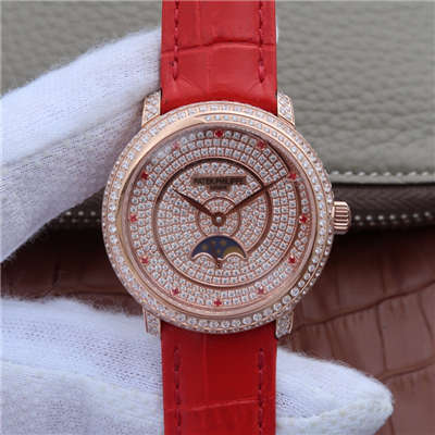 【KG1:1超A复刻手表】百达翡丽复杂功能计时系列4968/400R-001女士腕表