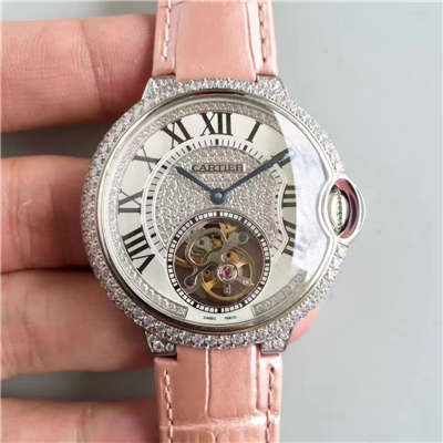 【TF厂一比一超A高仿手表】卡地亚创意宝石腕表系列HPI00716女表(满天星陀飞轮)