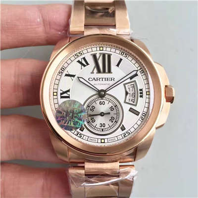 【JF1:1超A高仿手表】卡地亚CALIBRE DE CARTIER 系列W7100018腕表