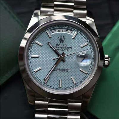 【实拍图鉴赏】EW厂1:1超A精仿手表之劳力士星期日历型系列228206-83416腕表