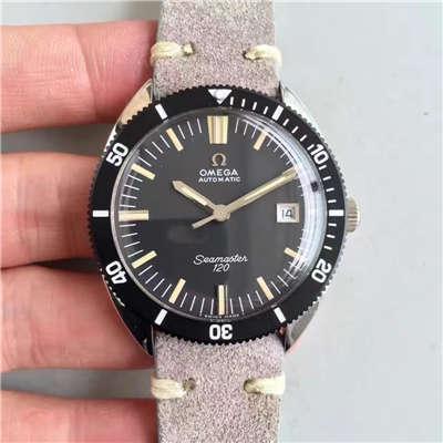 【台湾厂一比一精仿手表】欧米茄OMEGA海马复古系列120黑盘腕表价格报价