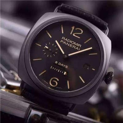 【视频评测KW一比一超A高仿手表】沛纳海RADIOMIR系列PAM 00384全陶瓷腕表价格报价