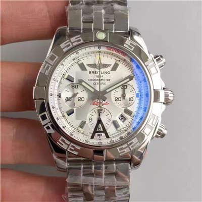 【JF厂1:1超A复刻手表】百年灵机械计时系列AB011012/G684(Barenia精钢表带)腕表