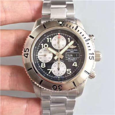 【GF一比一复刻手表】百年灵超级海洋系列A13341C3/BD19/162A钢鱼计时腕表