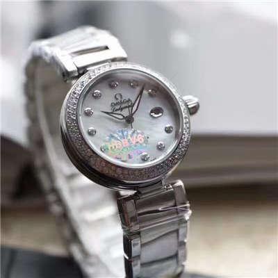 【V6厂一比一超A复刻手表】欧米茄碟飞鸟巢系列幻彩贝母表盘425.35.34.20.55.002女士腕表价格报价