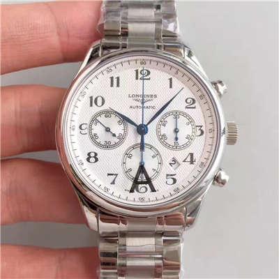 【视频评测JF一比一超A高仿手表】浪琴 LONGINES名匠系列 L2.759.4.78.6 男士机械腕表价格报价
