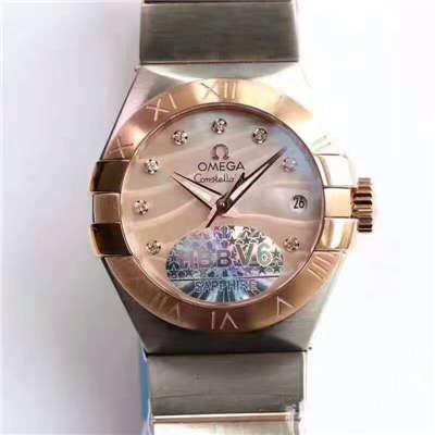 【HBBV6厂一比一超A复刻手表】欧米茄星座PLUMA轻羽系列123.20.27.60.57.002女士机械腕表价格报价