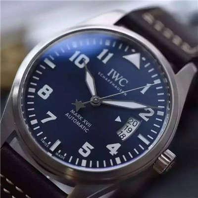 【MK厂一比一超A高仿手表】万国飞行员系列马克十七IW326506腕表(蓝面小王子)
