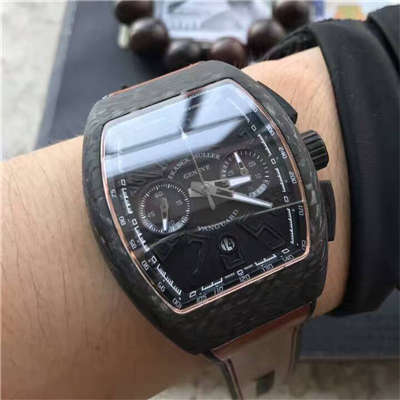 【LE级复刻手表】法穆兰VANGUARD系列V45 SC DT BLACK PXL黑色腕表