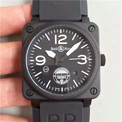【BR一比一高仿手表】柏莱仕法国国家宪兵特勤队设计制造GIGN 专属特别版腕表 BR03-92