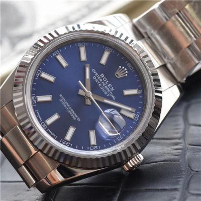 【视频评测N厂1:1顶级复刻高仿表】劳力士日志型系列116334-72210蓝盘机械腕表