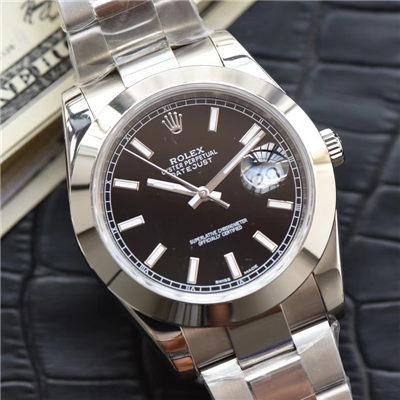 【N厂超A1:1精仿手表】劳力士日志型系列116334-黑盘腕表