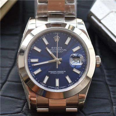 【视频评测N厂一比一超A高仿手表】劳力士日志型系列116300蓝盘腕表