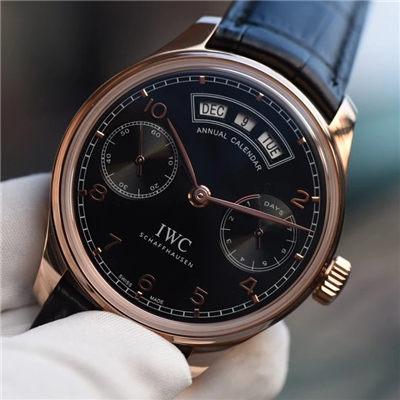 【YL一比一超A高仿手表】万国葡萄牙年历腕表万国年历玫瑰金黑面款价格报价