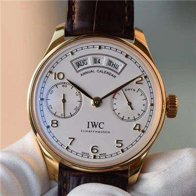 【YL一比一超A精仿手表】万国葡萄牙年历腕表系列万国年历黄金壳白面款