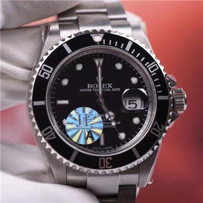 【JF厂一比一超A高仿手表】劳力士潜航者型系列16610LV第四代老款黑水鬼价格报价