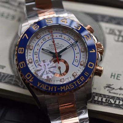 【JF厂一比一顶级复刻手表】劳力士游艇名仕型II YM2系列116681-78211 白盘腕表