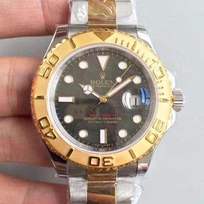 【JF厂一比一复刻手表】劳力士游艇名仕型系列16623黑贝母盘腕表
