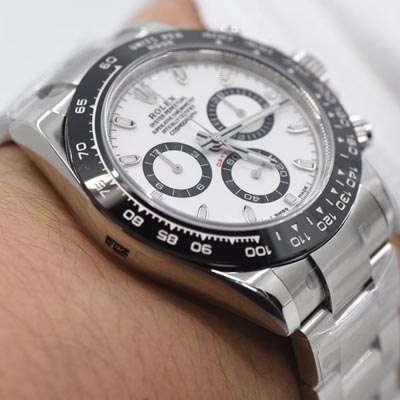 【AR一比一超A高仿手表】劳力士宇宙计型迪通拿系列116500LN-78590白盘腕表《熊猫迪通拿》