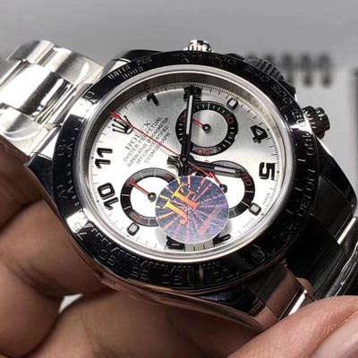 【JF一比一超A高仿手表】劳力士宇宙计型迪通拿系列116509-78599 银色数字刻度腕表