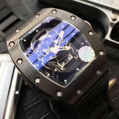 【视频解析】1:1超A精仿KV出品顶级版理查德米勒骷髅头RM 52系列手表