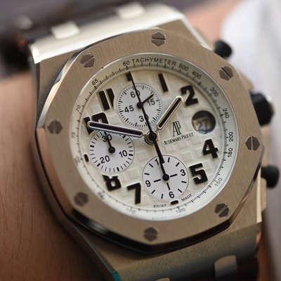 【JF厂1:1复刻精仿手表】爱彼皇家橡树离岸型系列沙漠26170ST.OO.D091CR.01腕表