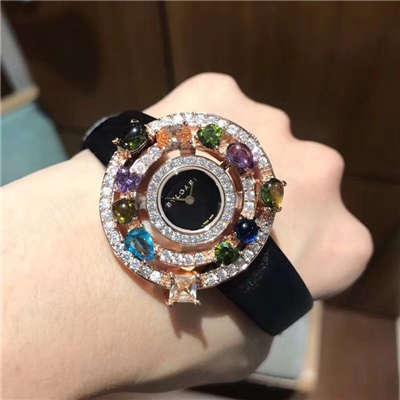 宝格丽astrale珠宝系列腕表闪亮登场 限量发售 按订货顺序出货 黄金镶嵌彩色宝石价格报价