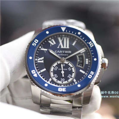 【JF一比一超A高仿手表】卡地亚卡历博/卡利博CALIBRE DE CARTIER 系列WSCA0011腕表钢带款
